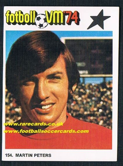 1974 Williams Martin Peters SWEDISH